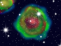 Galaxia grande del color Foto de archivo libre de regalías