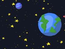 Galaxia horizontal del espacio de la voluta libre illustration
