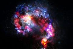 Galaxia increíblemente hermosa en alguna parte en espacio profundo Papel pintado de la ciencia ficción imagen de archivo