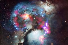 Galaxia increíblemente hermosa en alguna parte en espacio profundo Papel pintado de la ciencia ficción foto de archivo libre de regalías