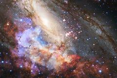 Galaxia increíblemente hermosa en alguna parte en espacio profundo Papel pintado de la ciencia ficción imagen de archivo libre de regalías