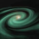 Galaxia verde Fotos de archivo