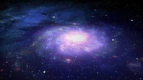 Galaxia y estrellas del espacio profundo stock de ilustración