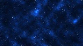 Galaxian μπλε αστεριών Στοκ Εικόνα