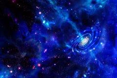 Galaxie-émission de la substance et des nuages moléculaires images stock