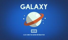 Galaxie-Astrologie-Planeten-Schwerkraft-Konzept lizenzfreie abbildung