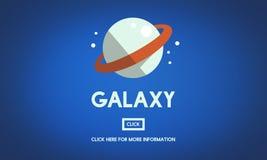 Galaxie-Astrologie-Planeten-Schwerkraft-Konzept vektor abbildung