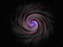 Galaxie bleue Photographie stock