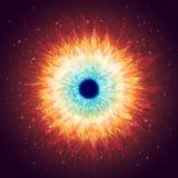 Galaxie brillante avec des étoiles Photos stock