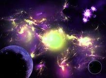 Galaxie colorée de l'espace Photographie stock