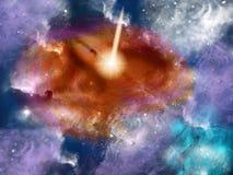 Galaxie d'espace lointain illustration de vecteur