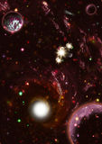 Galaxie d'espace lointain Image stock
