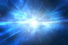 Galaxie d'univers avec l'explosion d'étoile Photographie stock