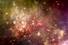 Galaxie d'univers d'imagination avec les étoiles et la nébuleuse Photos stock