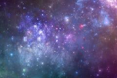 Galaxie d'univers d'imagination avec les étoiles et la nébuleuse Photos libres de droits