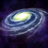 Galaxie dans l'espace illustration stock