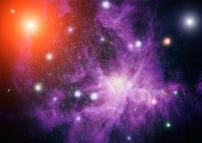 Galaxie dans l'espace, beauté d'univers, trou noir Éléments meublés par la NASA Images stock