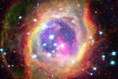Galaxie dans l'espace extra-atmosph?rique, beaut? d'univers photographie stock