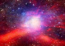 Galaxie dans un espace libre photos libres de droits