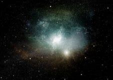 Galaxie dans un espace libre image stock