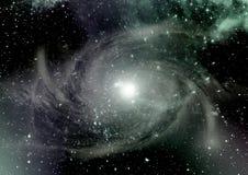 Galaxie dans un espace libre photographie stock