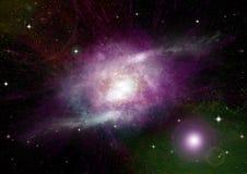 Galaxie dans un espace libre photos stock