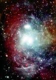 Galaxie dans un espace libre images libres de droits