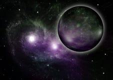 Galaxie dans un espace libre image libre de droits