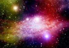 Galaxie dans un espace libre images stock