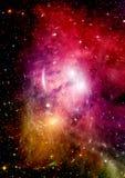 Galaxie dans un espace libre photo stock