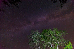 Galaxie de manière laiteuse sur le ciel proche Photo stock