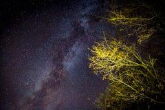 Galaxie de manière laiteuse sur le ciel proche images stock