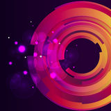 Galaxie digitaler bokeh Hintergrund Lizenzfreies Stockbild
