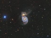 Galaxie du tourbillon M51 Images libres de droits