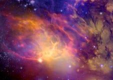 Galaxie in einem freien Raum stock abbildung