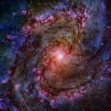 Galaxie en spirale brillante photographie stock libre de droits