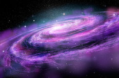 Galaxie en spirale dans des spcae profonds, Photo libre de droits
