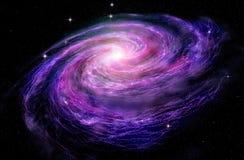 Galaxie en spirale dans des spcae profonds Images libres de droits