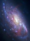 Galaxie en spirale dans l'espace lointain Photos stock