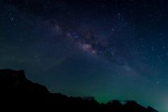 Galaxie et étoile de manière laiteuse images stock