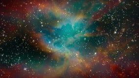 Galaxie et étoiles d'espace lointain banque de vidéos