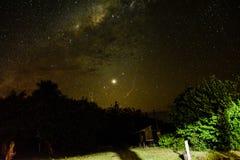 Galaxie et nature photographie stock
