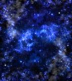 Galaxie, fond de bleu de résumé Images stock