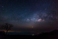 Galaxie horizontale de manière photo stock