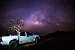 Galaxie horizontale de manière images libres de droits