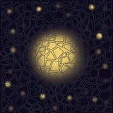 Galaxie im Fenster Abstrakte Zusammensetzung vektor abbildung