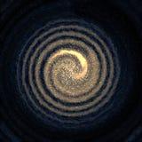 Galaxie im Platz mit Sternen Stockbild