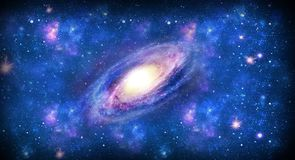 Galaxie im Raum, schwarzes Loch, Universum stock abbildung