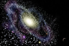 Galaxie im Universum Stockfotografie