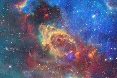 Galaxie impressionnante dans l'espace extra-atmosph?rique Starfields de cosmos sans fin photos libres de droits